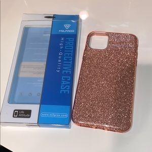 iPhone 11 Pro Max iPhone Case - rose gold glitter